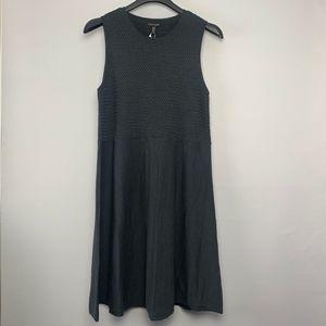 EILEEN FISHER | Knit Scoop Neck Midi Dress Wool-XL